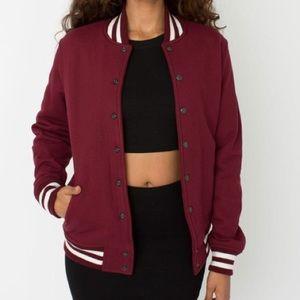 American Apparel Maroon Varsity Jacket